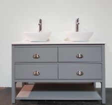 Painted Bathroom Cabinet Washstand 100cm Solid Surface Top, Any Colour Match.