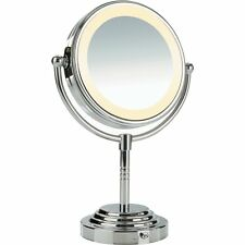 Conair lighted makeup mirrors ebay conair doublesided batteryoperated lighted makeup mirror polished chrome mozeypictures Gallery