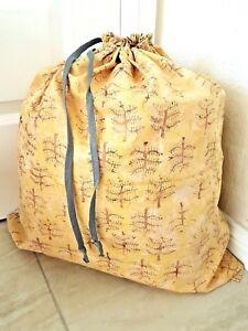 Handmade Javanese batik large laundry bags great gift eco friendly - pine