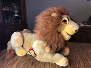 Disney Store LION KING Mufasa Simba Hand Puppet Plush Stuffed Animal With Tags