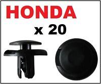 20 x Honda Grille Wheel Arch Lining Splashguard Bumper Trim Plastic Clips Rivet