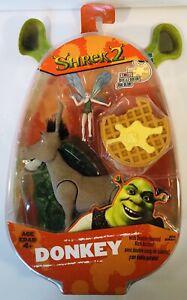 2004 Hasbro Shrek 2 Donkey Far Far Away Pixie Scented Waffle Kicking Action