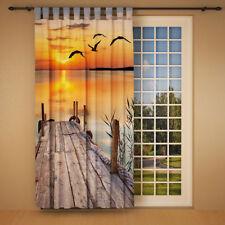 """Foto Schlaufenschal Vorhang Gardine """"Sonnenuntergang am See"""""""