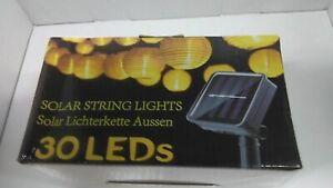 Solar Lichterkette Lampion Außen 6 Meter 30 LED Laternen 2 Modi Wasserdicht Sola