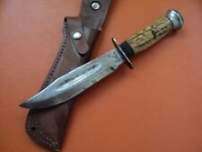 antique 1950 argentine Simbra hunting bowie knife german style stag original