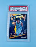 Ja Morant 2019-20 Donruss Optic Orange Prizm MY HOUSE /39 RC Rookie RARE PSA 10