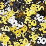 Black Gold & Silver 30th Birthday Party Table Confetti Decorations Age Sprinkles