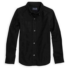 Boys' Big Uniform Oxford Shirt, Black, L, Black, Size 0.0 sa5R