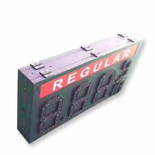 """12"""" Double sided LED Gas Price Sign with complete aluminum Cabinet"""