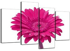 Large Pink Gerbera Daisy VW Floral Canvas Pictures XL Prints Art 4099