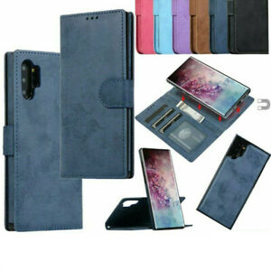 For Samsung Note 10 Plus Flip Magnetic Removable Card Wallet Leather Case Cover