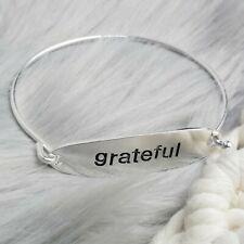 NEW Mother's Day Bangle Bracelet Silver GRATEFUL