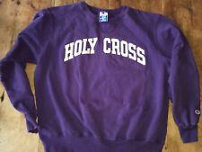 Vintage Champion Holy Cross Hoodie Sweatshirt Men's Xl Worcester Mass