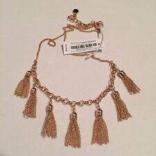NWT Vera Bradley Gold Tone Short Mini Tassels Necklace! Very Pretty!