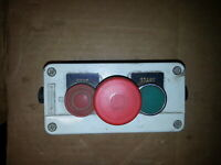 SQUARE D TELEMECANIQUE START - STOP - EMERGENCY STOP SWITCH BOX