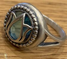 SATYA - Sterling silver - Blue Topaz Stone Ring - Size 7.5  - BNWOT