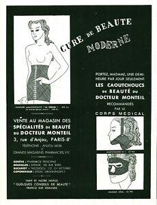 Publicité ancienne cure de beauté moderne 1937 issue de magazine