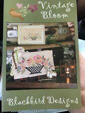 Blackbird Designs Vintage Blooms Cross Stitch Pattern OOP Flower Basket