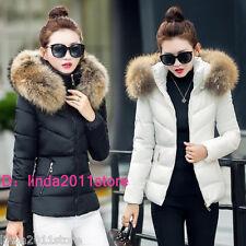 Winter Women Jacket Down Cotton Coat imitation raccoon fur hooded Parka Outerwea