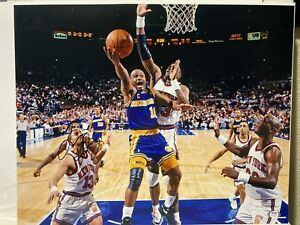 Tim Hardaway Signed Golden State Warriors 16x20 Photo PSA/DNA