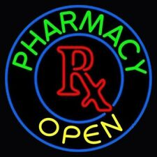 "New Pharmacy Open RX Clinic Medical Store Light Neon Sign 24""x24"""