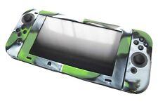 Nintendo Switch & Joy con controlador Verde Camuflaje De Silicona Cubierta Protectora Set Reino Unido