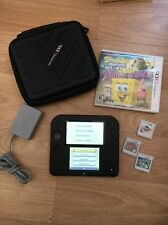 Red Nintendo 2DS Bundle EUC With CASE, Charger  and 4 Games/Pokémon