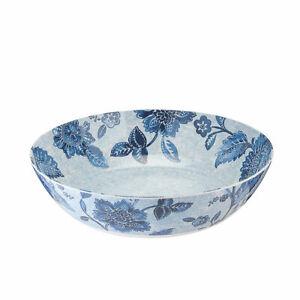 Melamine Salad Bowl Fruit - Summer Blooms Design by Lakeland Blue Floral