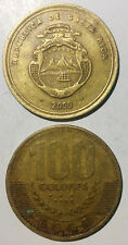 T2 Costa Rica 100 Colones 2000 None Magnetic 30mm copper coin km240