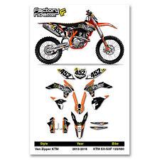 2013-2015 KTM SX-SXF 125/450 Team VZ Motocross Graphics Dirt Bike Graphic Decal