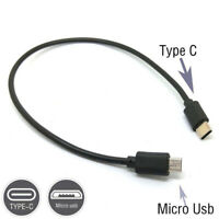 Type C(USB C)To Micro USB Male Sync OTG Charge Cord Cable Adapter Fast Transfer/