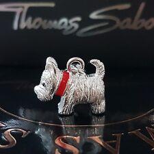 THOMAS SABO ❤ Hund Westie Charm Club Armband Kette Anhänger 925 Silber Terrier♡♡