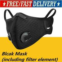 PM2.5 Double-valve Breathable Activated Carbon Dust Protection Face Shiled 1PCS