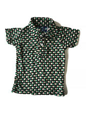 Kicky KicKee Pants Polo Shirt Short Sleeve Brown Green Dots Size 6 To 12 Months