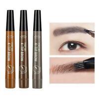 Natural 4 Point Tattoo Eyebrow Pencil Makeup Tools Brow Eye Enhancer Pen Makeup