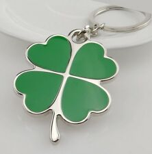Porte clés trèfle à quatre feuilles, porte bonheur, jeux, casino, argent, poker.