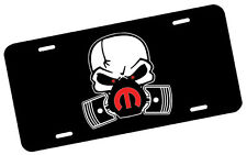 Mopar Skull Mask Red License Plate Automotive .40 Alum. Hi-Quality Full Color