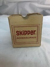 Vintage 1960s Skipper Toy Doll Barbie's Sister Accessories Box Red Tan Color