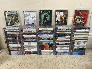 110 x PS3 Games Job Lot - Uncharted Batman Turok Last Of Us Red Dead F1 COD