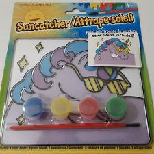 Unicorn Suncatcher Painting 4 Paint Set Brush Kids Arts & Crafts Hobby Gift