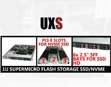 "1U Supermicro Flash Storage Server SSD/ NVME 6x 2.5"" Bay 3x PCI-E X9SRG-F 64GB"