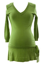 OLIAN Women's Moss Green Knit Drop Waist Maternity Tunic Sz XS $123 NWT