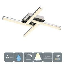 AUROLITE LED 4 Lights Ceiling Light Dimmable Ideal for Bathroom Polished Chrome