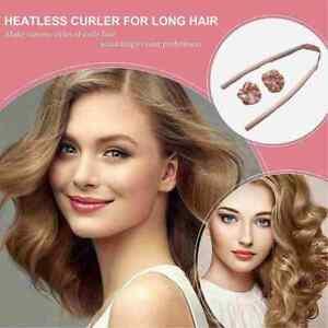 Women Girl Silk Ribbon Hair Curler Heatless Curling Rod Headband Wave FormerNew~