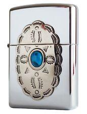 Zippo Lighter ● Turquoise Flower Indian Emblem ● 850935 Neu New OVP ● A912