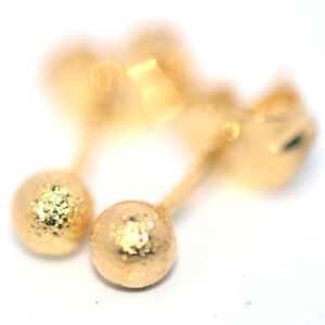 Small Tiny Womens Gold-Beans Stud Earrings Frosted Earrings Female Jewelry