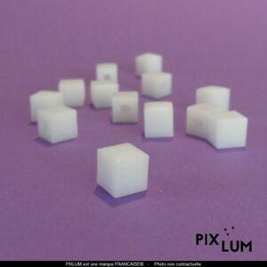 "Pixlum LED-Kappen Würfel, milchweiß-transparent, ""PixCAP"""