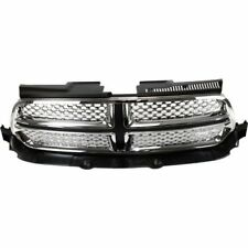 for 2011 2012 2013 Dodge Durango Front Grille Chrome/Black Without Accent Color
