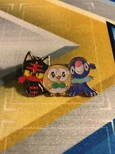 Sun and Moon - Litten Rowlet Popplio Pin : Pokemon Collector Pin Rare Starters