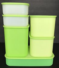 Tupperware Pak N Store Storage Containers 6 Piece Set Green New